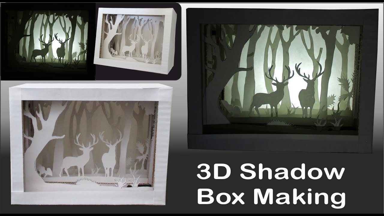 3d Paper Art Shadow Box Best Paper Crafts Ideas