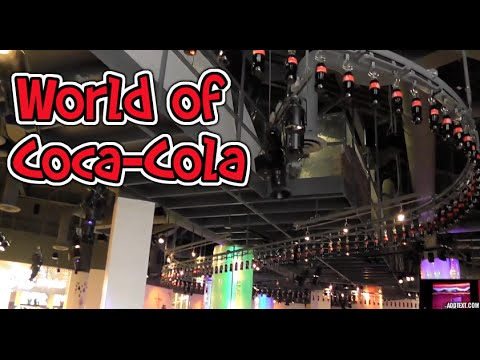 INSIDE World of Coca Cola Museum Atlanta Georgia HD