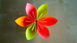 Origami Blumen falten - DIY Blumen basteln mit Papier - Bastelideen - Geschenke basteln