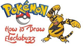 How To Draw Electabuzz (POKEMON)