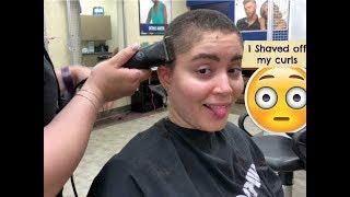 Shaving my hair, bye-bye curls 😭 |FINESSIN FORTE