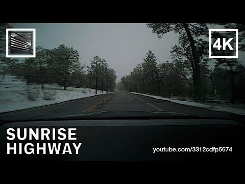 Driving on Sunrise Highway Snow, Mount Laguna