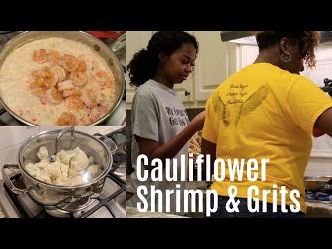 CAULIFLOWER SHRIMP & GRITS