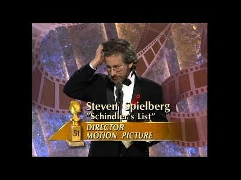 Steven Spielberg Wins Best Director Motion Picture  Golden Globes 1994