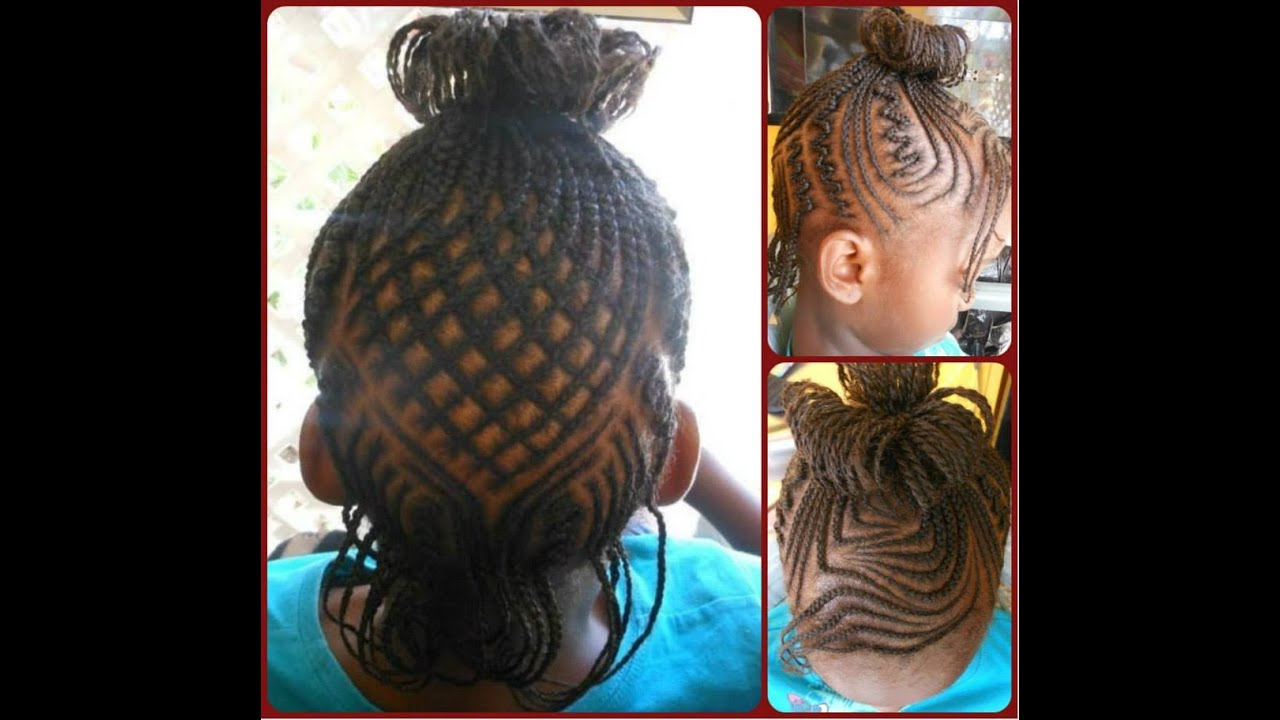 cute braided hairstyle for kids - youtube