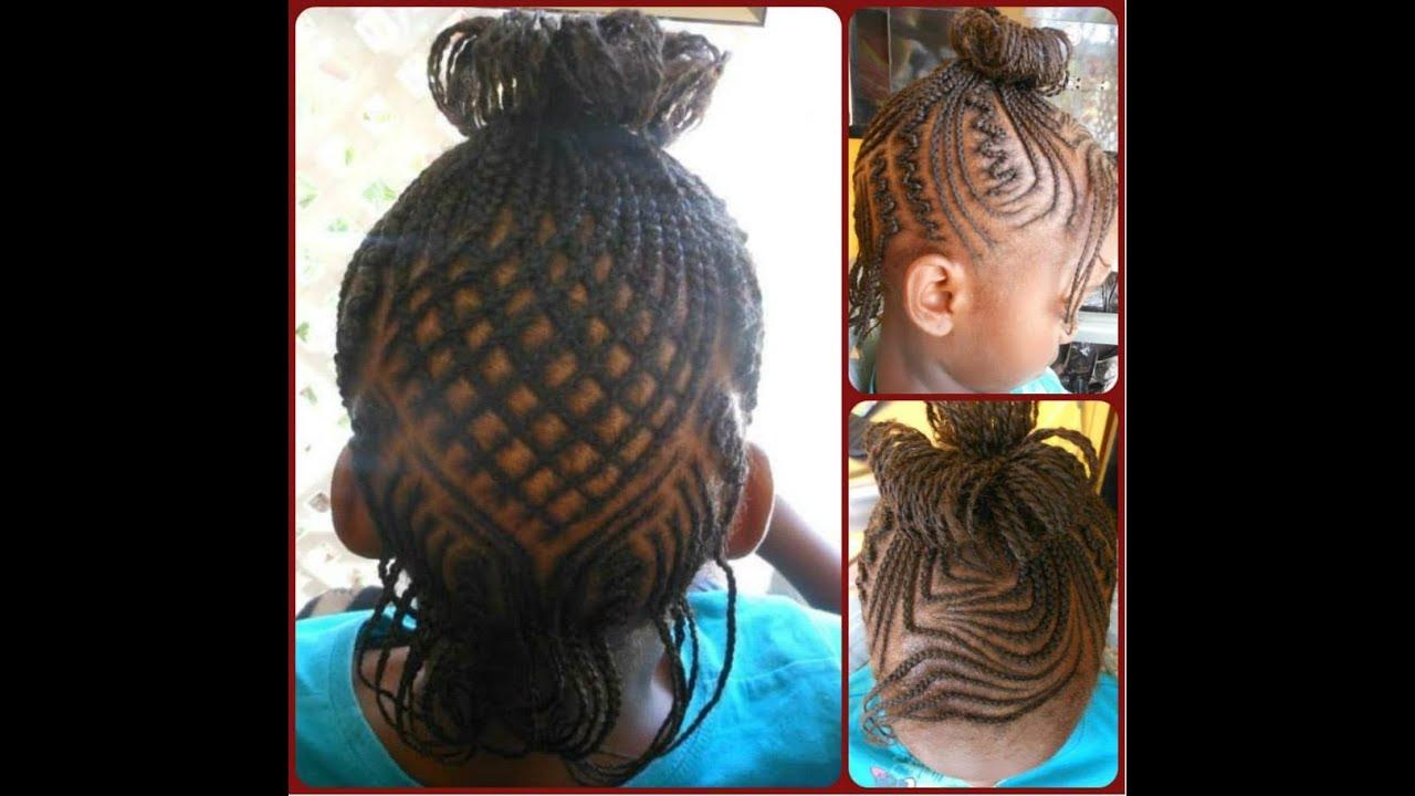 cute braided hairstyle kids