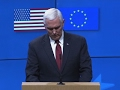 Pence seeks to ease EU fears