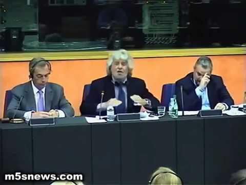 Beppe Grillo talks to European Parliament - SUB ENG ITA
