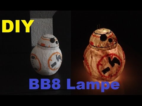 bb8 lampe selber bauen bb 8 bb 8 led leuchtende deko laterne basteln diy star wars. Black Bedroom Furniture Sets. Home Design Ideas