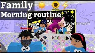 Roblox Bloxburg| Family Morning Routine
