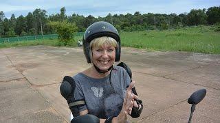 Обучение вождению мотобайка  День 1
