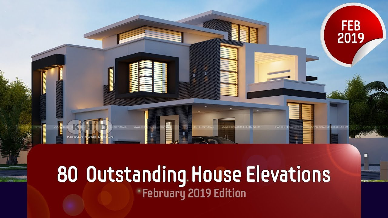 80+ Best house elevation designs of February 2019 - YouTube