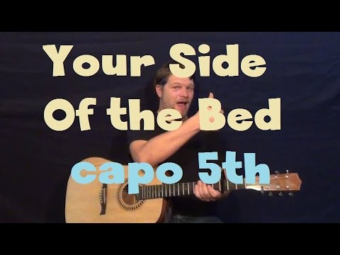Your Side Of The Bed (Little Big Town) Easy Guitar Capo 5th Fret Strum Chord How to Play Tutorial