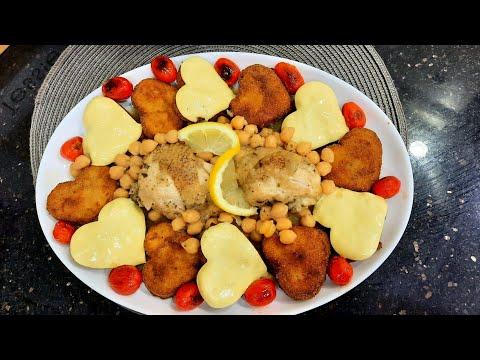 طاجين القلوب بالدجاج أم وليد