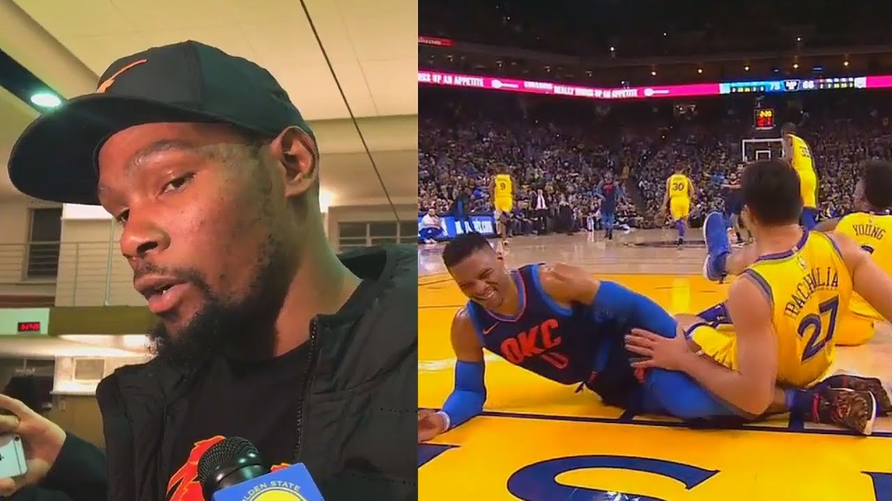 896cbbd8cad7 Kevin Durant Defends Zaza Pachulia Falling on Russell Westbrook   Almost  Injuring Him
