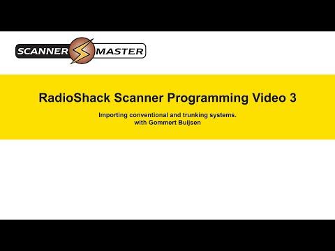 RadioShack Scanner Programming Video 3 by Scanner Master