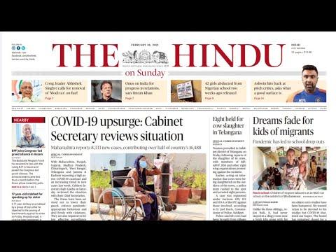 28 February 2021   The Hindu Newspaper Analysis   Current affairs 2020 #UPSC #IAS #Todays The Hindu