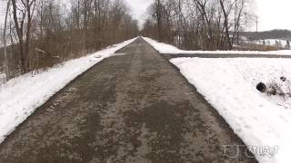 Fat Biking the Montour Trail 3, Bethel Park, 2-7-2013, (Revised)