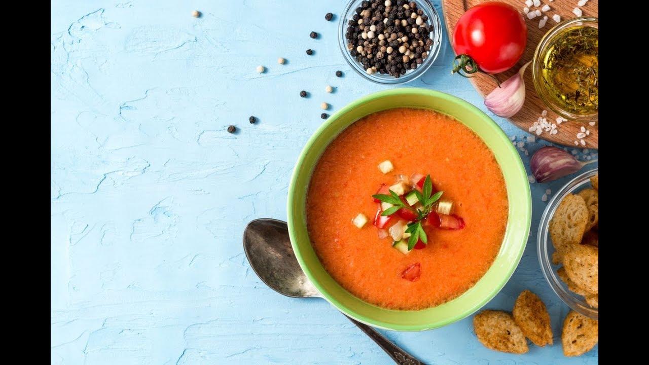 Ricetta Gazpacho Facile.Ricetta Originale Del Gazpacho Andaluso La Zuppa Fredda Con Pomodori