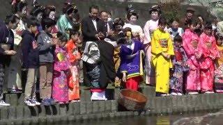 平成28年3月27日 お吉が淵は、伊豆急行線・蓮台寺駅のすぐ近くにありま...