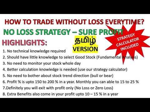 How To Trade Without Loss In Share Market | No Loss Strategy In Trading In Tamil