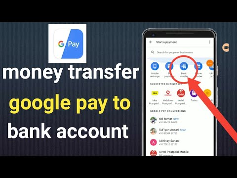 Money Transfer Google Pay To Bank Account