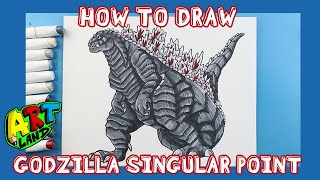 How to Draw GODΖILLA SINGULAR POINT!!!