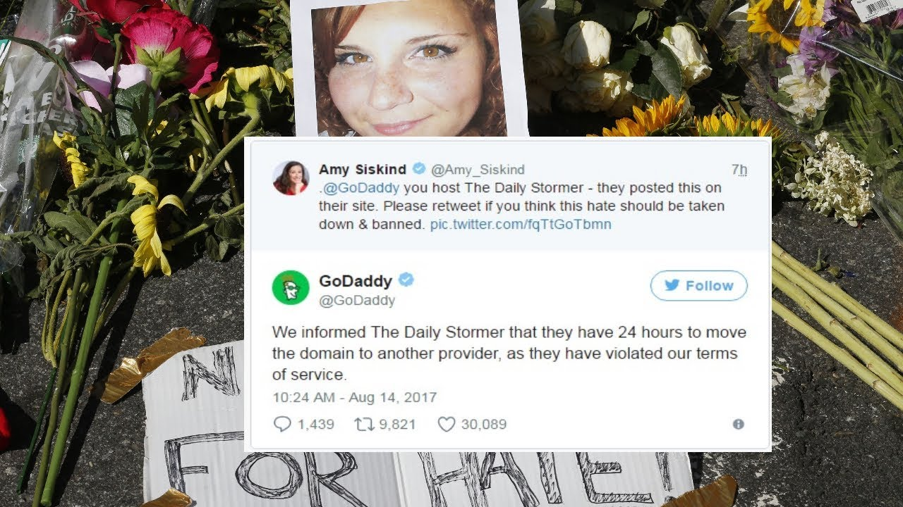 GoDaddy bans neo-Nazi site Daily Stormer for disparaging woman killed at ...