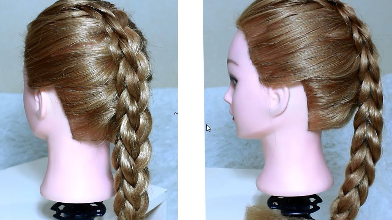 4 strand braid hair tutorial woven braid 3d round braid 4 ...