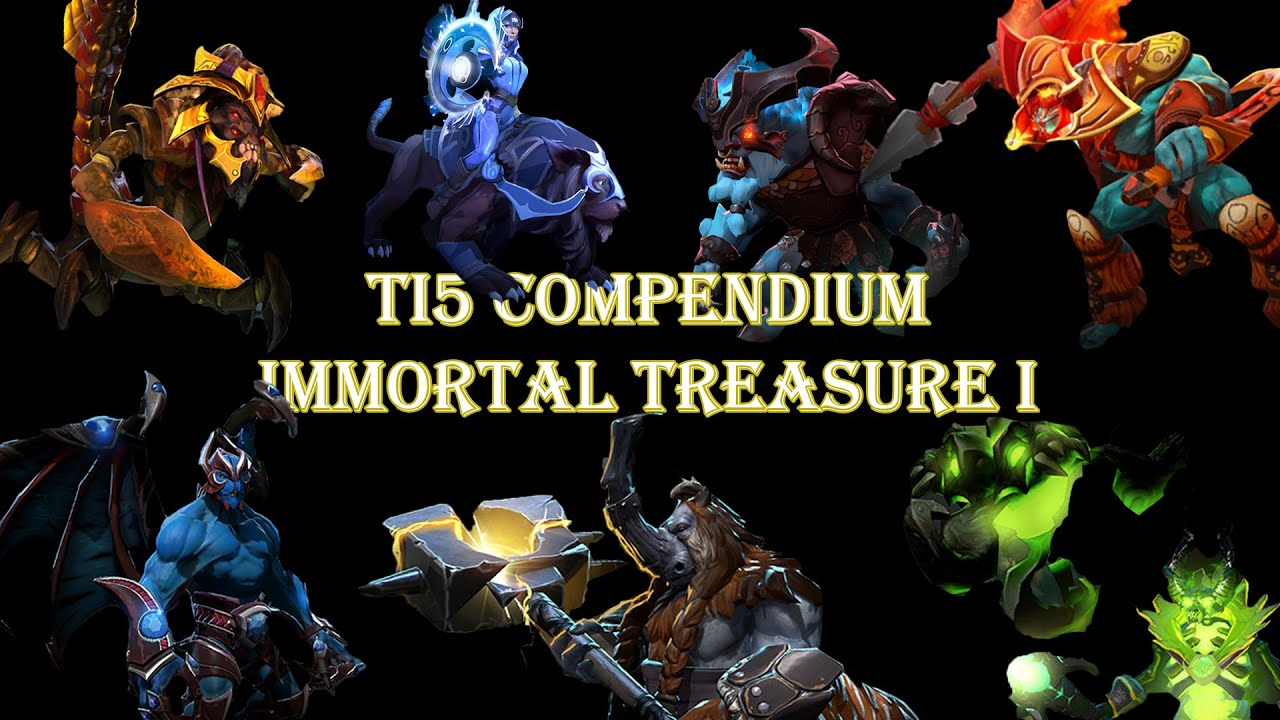 Dota 2 S Immortal Treasure 3 Launches: DOTA 2 TI5 Compendium Immortal Treasure 1 Chest Opening