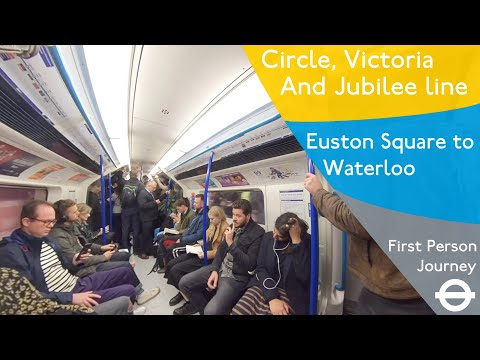 London Underground First Person Journey - Euston Square To Waterloo Via Kings Cross & Green Park