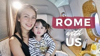 ROME with us + a tour of Emirates First Class | Andi Manzano Reyes