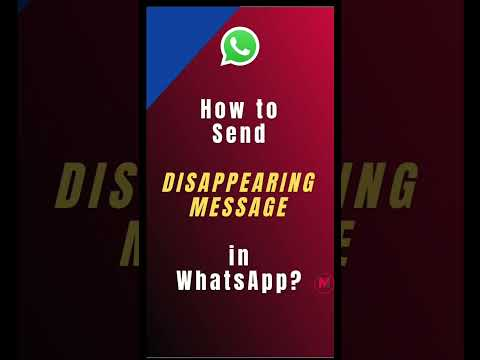 New feature from WhatsApp to send disappearing message #shorts