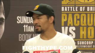 PACQUIAO TALKS MAYWEATHER REMATCH AFTER JEFF HORN: