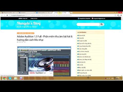 Hướng dẫn cài đặt Adobe Audition 1.5