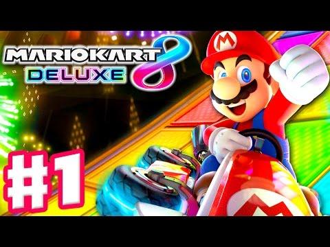 Mario Kart 8 Deluxe - Gameplay Walkthrough Part 1 - Mushroom Cup 50cc 100cc! (Nintendo Switch)
