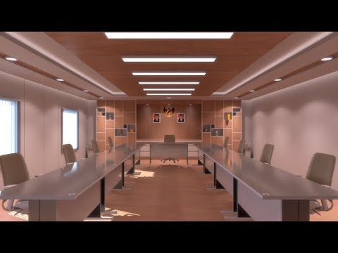 Sketchup 2017 Vray 3.4 Modeling Meeting Room and Rendering