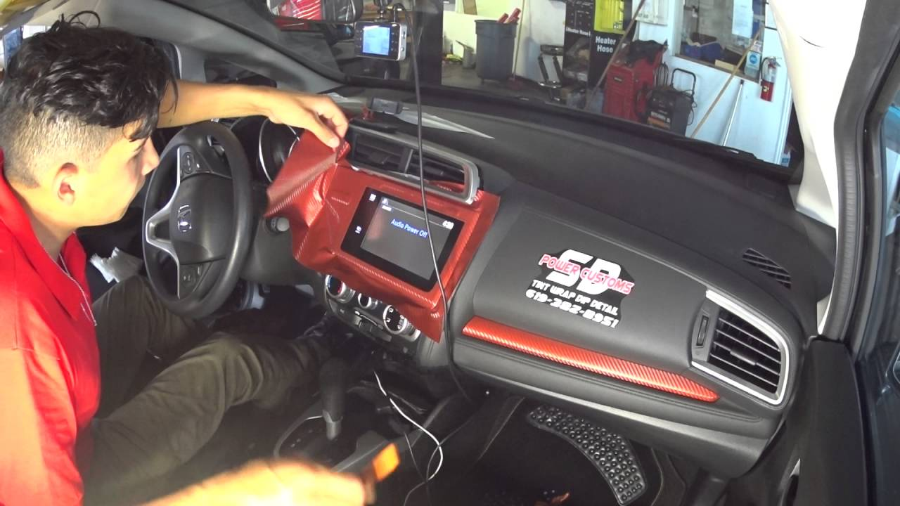 Wrapping 2015 Honda Fit Interior - YouTube