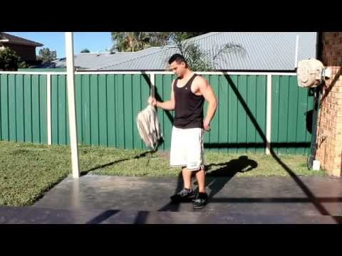Full Body Workout from home with just a backpack