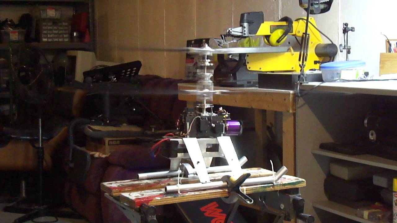 Sx 2 Coaxial Rc Helicopter Bench Test Youtube
