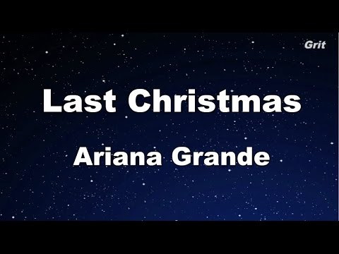 Last Christmas - Ariana Grande Karaoke【Guide Melody】 - YouTube