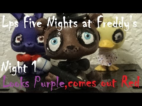 "LPS : Five Nights at Freddy's - Night 1 ""Looks Purple, Comes out Red"""