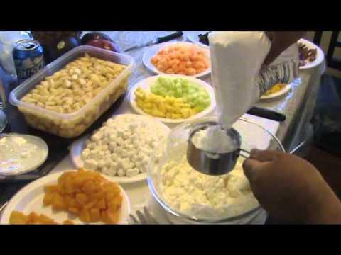 Ensalada de frutas en queso crema youtube - Como hacer coctel de frutas ...