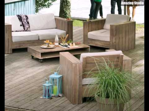 loungem bel f r balkon hell holz youtube. Black Bedroom Furniture Sets. Home Design Ideas
