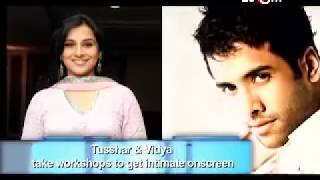 Vidya Balan & Tusshar Kapoor have intimate scenes in Dirty Picture