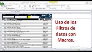 Filtrado Facil con varios campos en Excel 2018