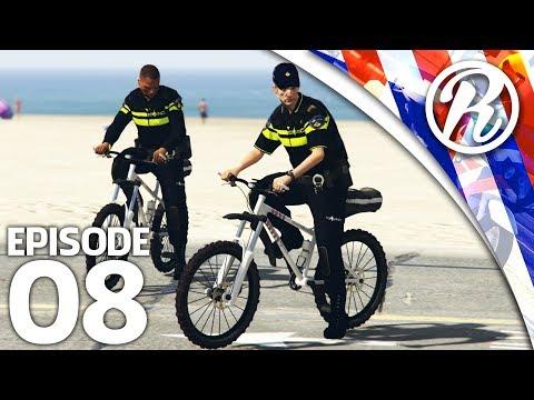 [GTA5] OP PAD MET EEN COLLEGA OP DE POLITIE FIETS!! - Royalistiq | Politie Roleplay #8