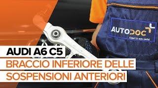Installazione Kit pastiglie freno anteriore e posteriore AUDI A6: manuale video