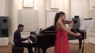 Saygun - Suite Op. 3: II. Horon (Ayca Akdogan - Violin, Or Yissachar - Piano)