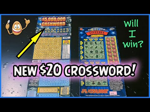 NEW TICKET!! PLAYING ONE OF THE BRAND NEW $20 CASHWORD CROSSWORD!